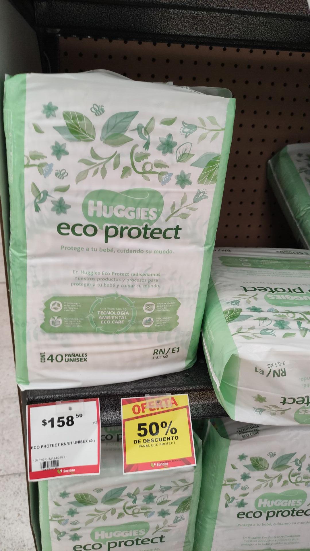 Soriana Hiper Rio consulado CDMX: Pañales Huggies Eco Protec 50% desc.