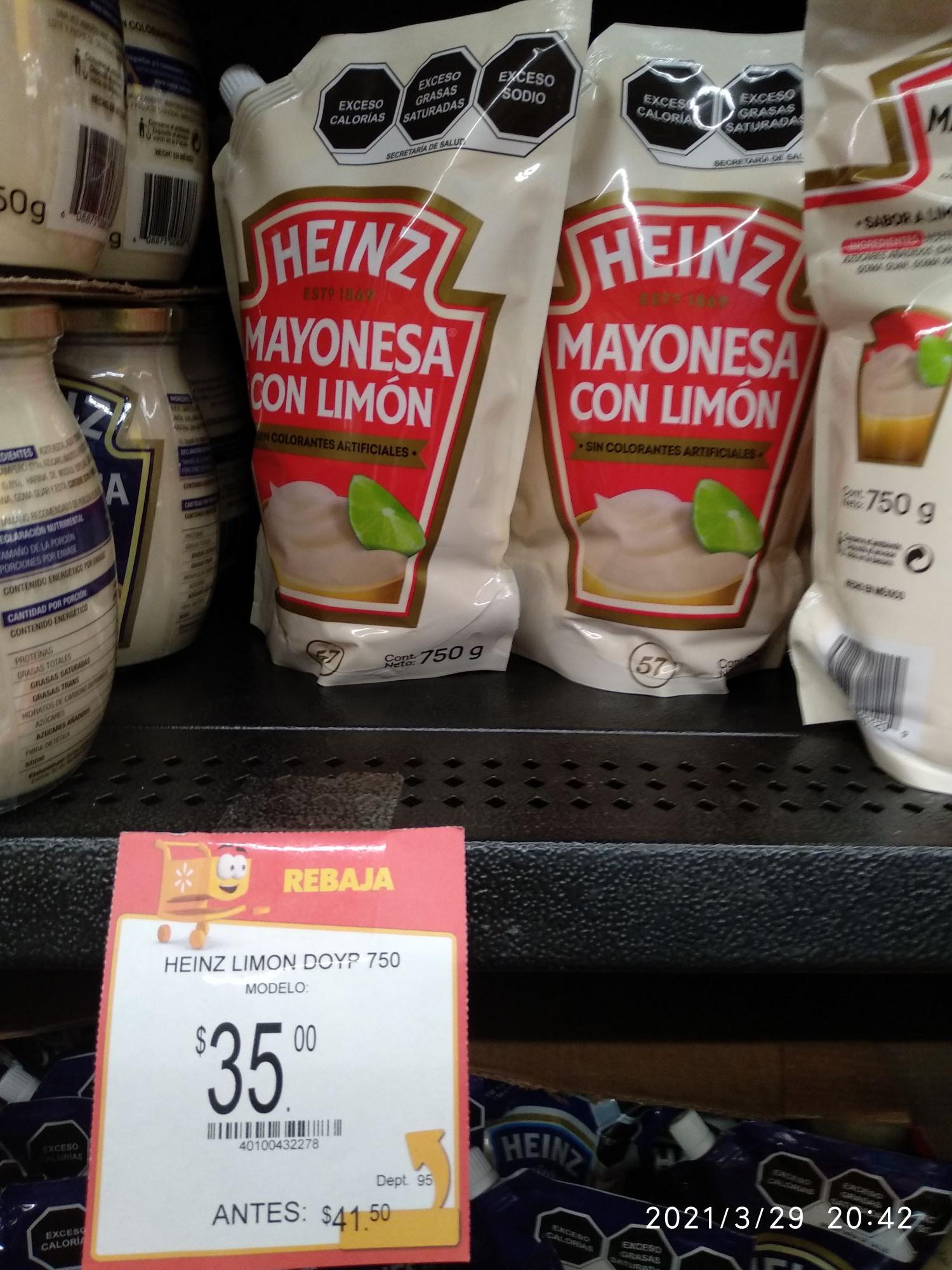 Heinz mayonesa - Walmart outlet lerma