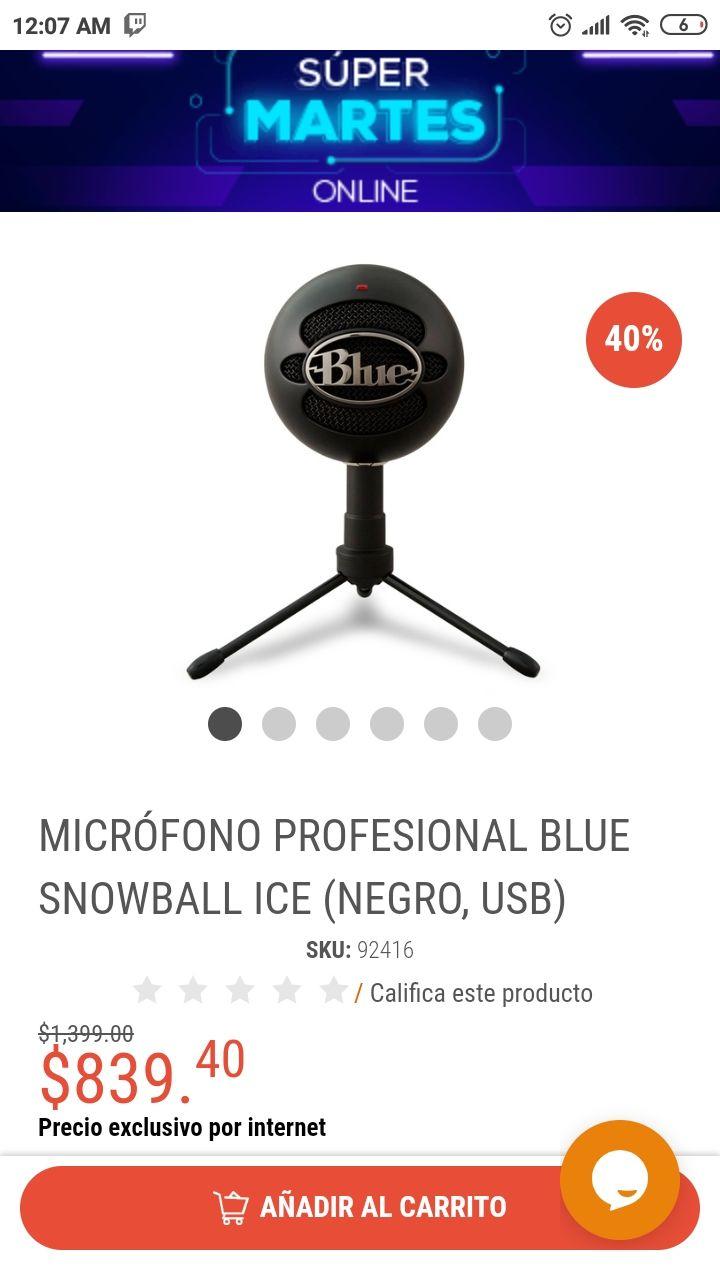 Radioshack: micrófono snowball ice