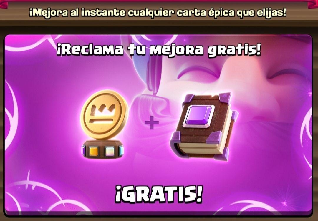 Clash Royale: Una moneda mágica y un libro de cartas épica gratis.