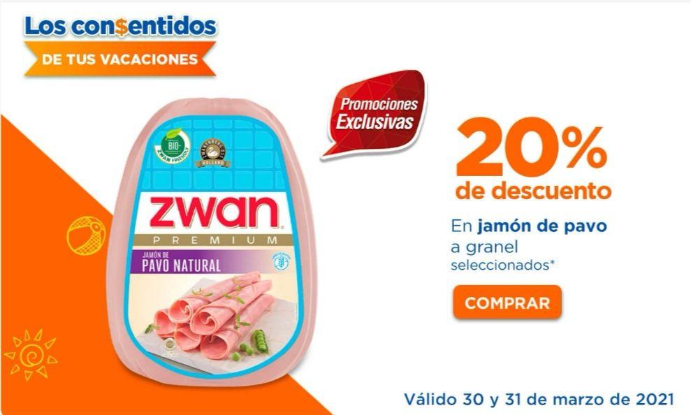 Chedraui: 20% de descuento en jamones de pavo a granel seleccionados