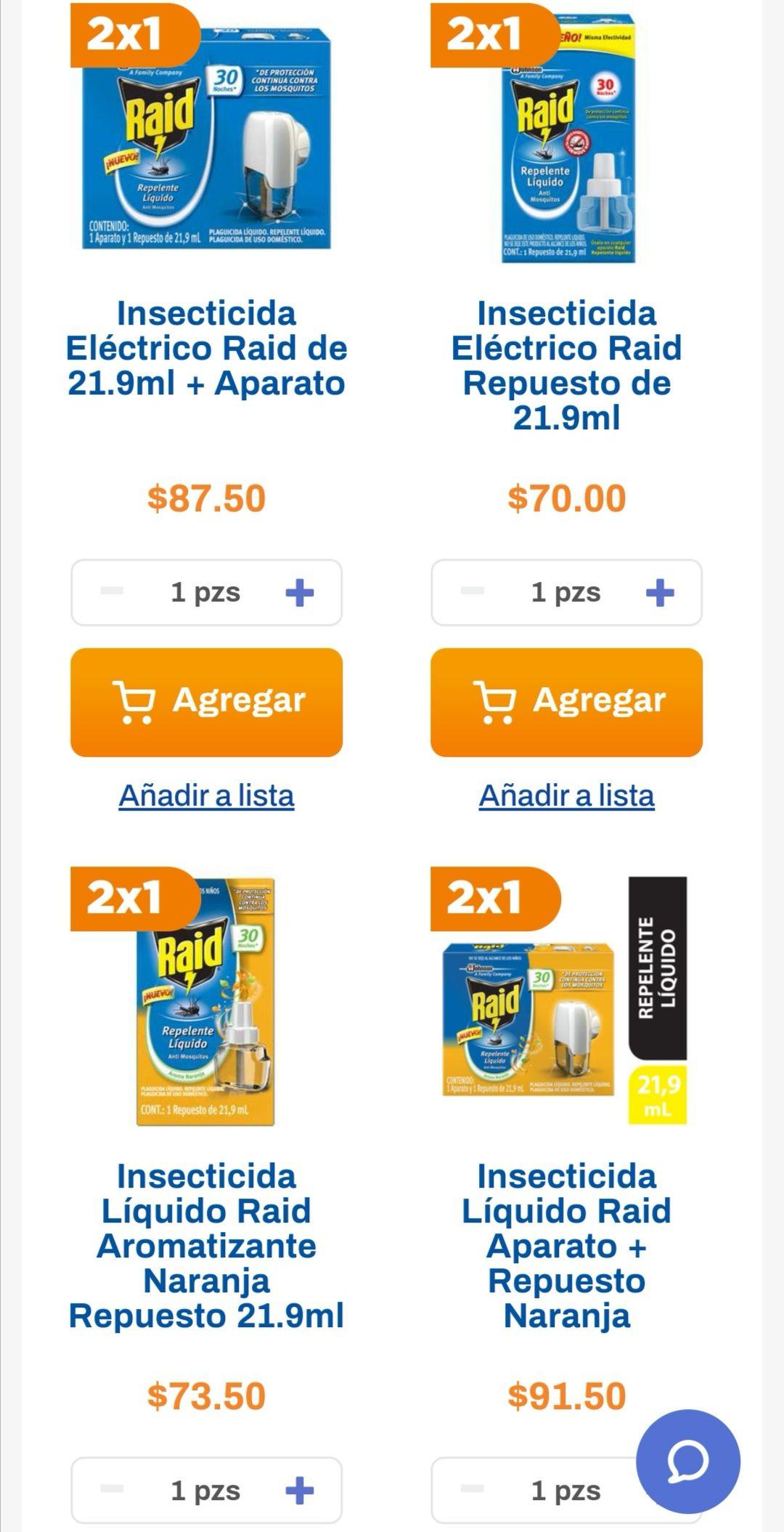 Chedraui: 2 x 1 en insecticidas Raid 21.9 ml