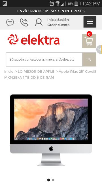 """Elektra en linea: iMac 21.5"""" Core i5 a 19,999 $"""