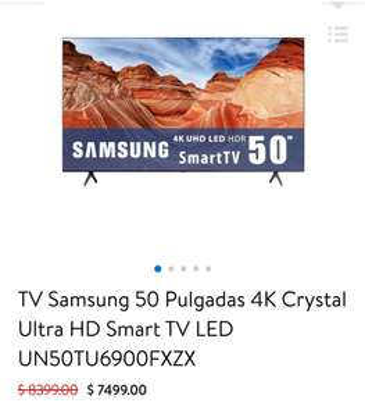"""Walmart: TV Samsung 50"""" 4k"""