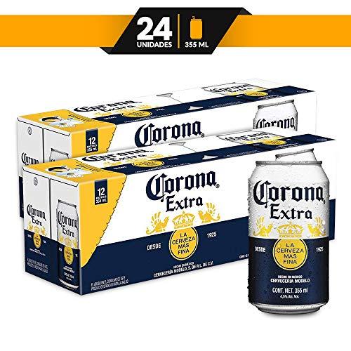 Amazon: Cerveza Corona Extra 24 latas de 355ml