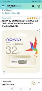 Amazon: memoria USB Adata 32 GB 2.0
