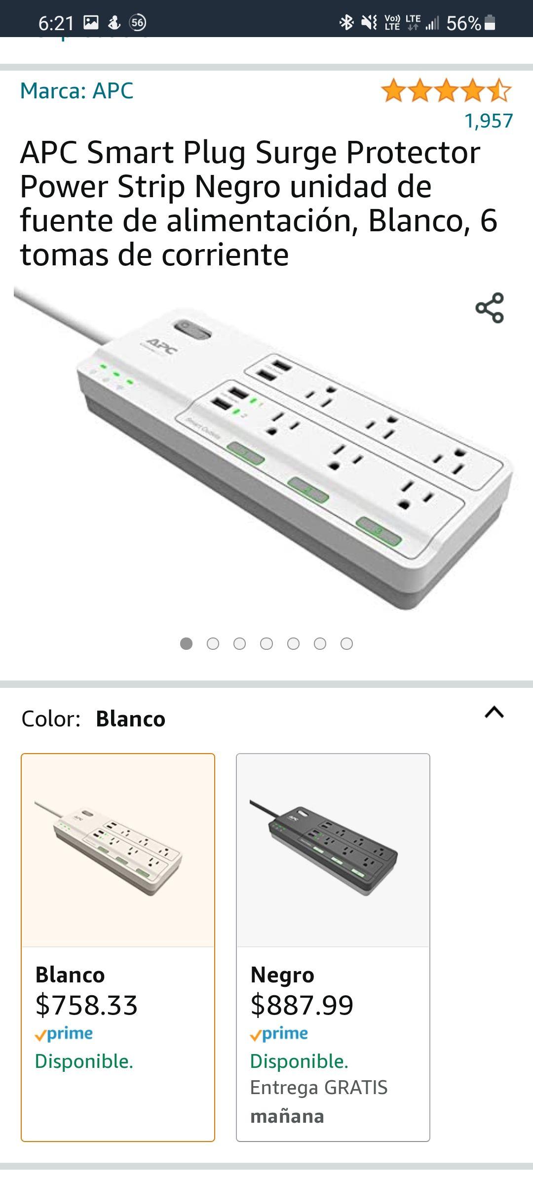Amazon: APC Smart Plug Surge Protector, compatible con Alexa
