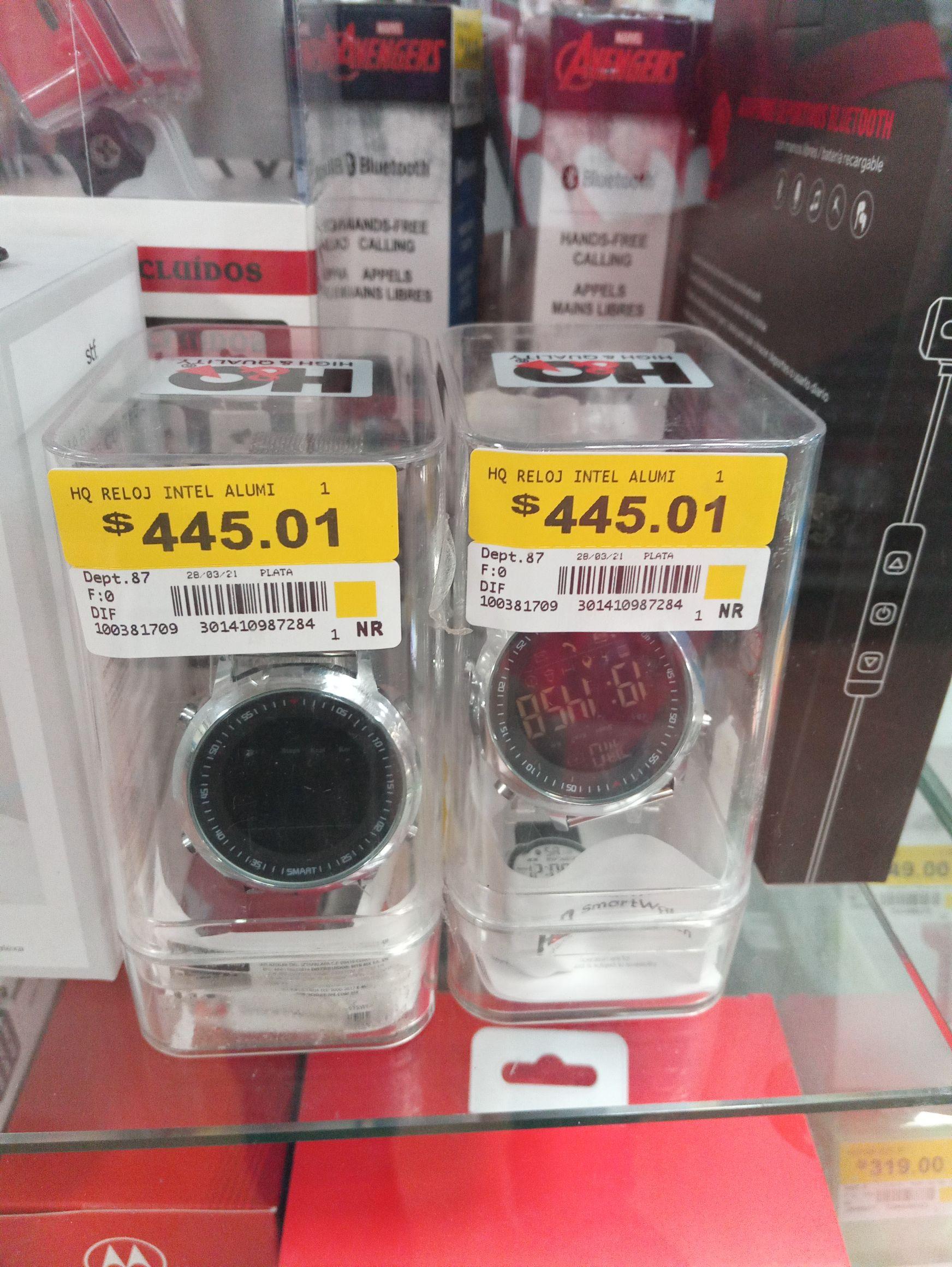 Walmart Orizaba: Reloj inteligente de aluminio