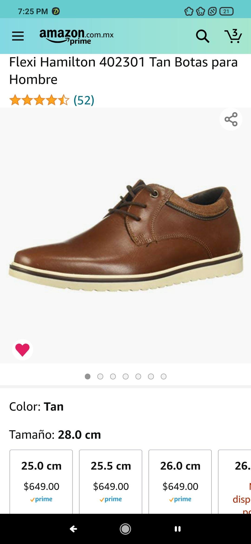 Amazon: Zapatos flexi para hombre