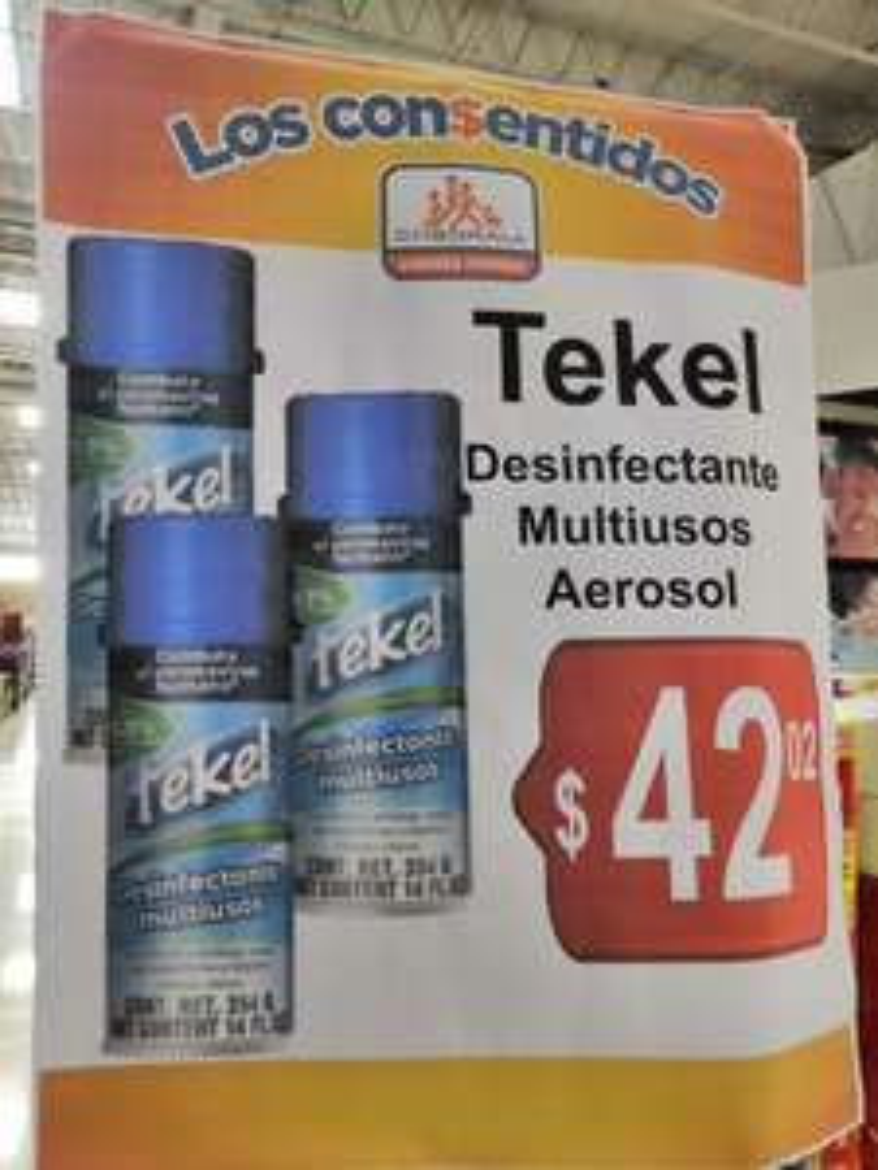 Chedraui Coapa: Desinfectante multiusos aerosol Tekel 354 g. $42.02