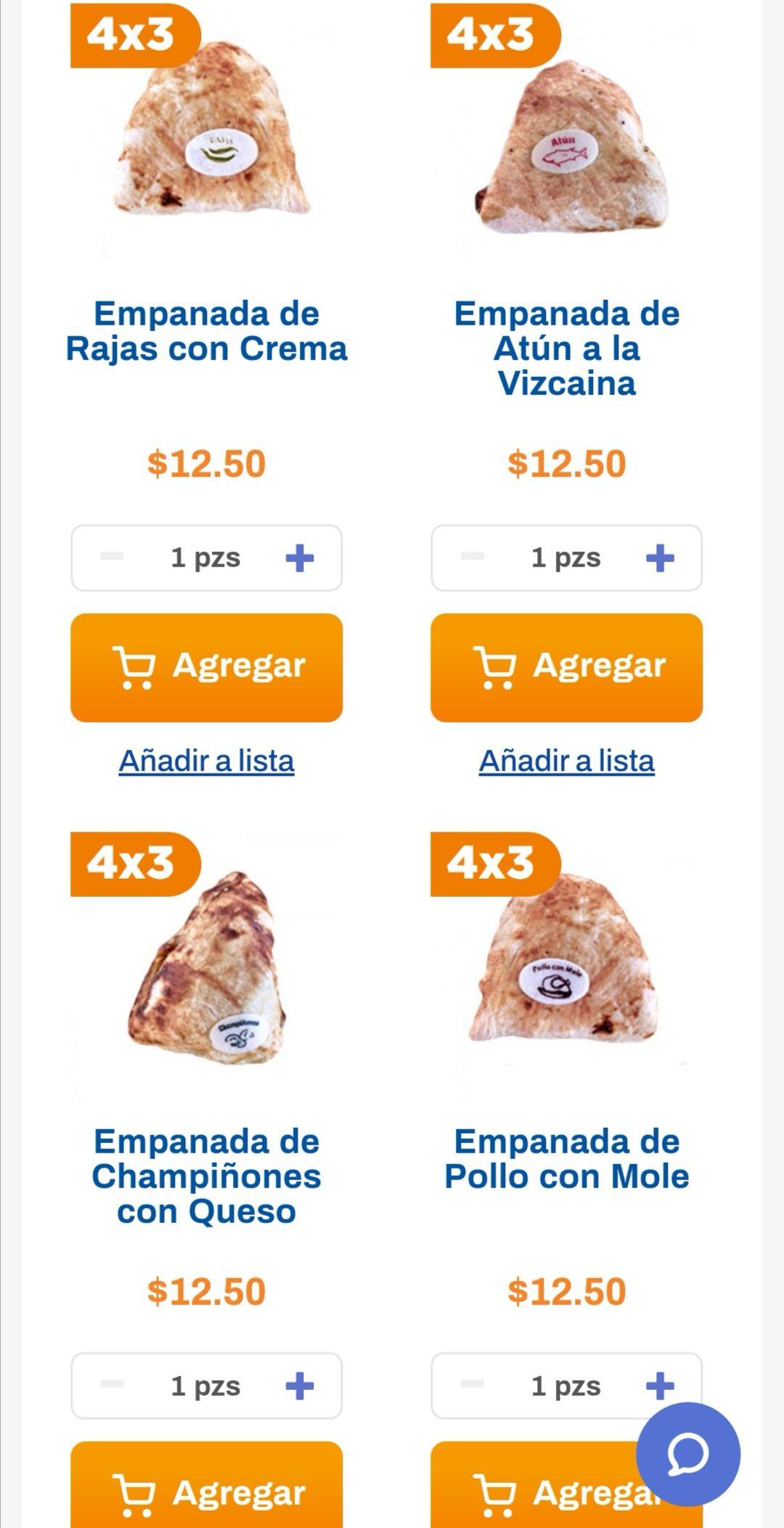 Chedraui: 4 x 3 en empanadas seleccionadas del departamento de panadería (4 x $37.50)