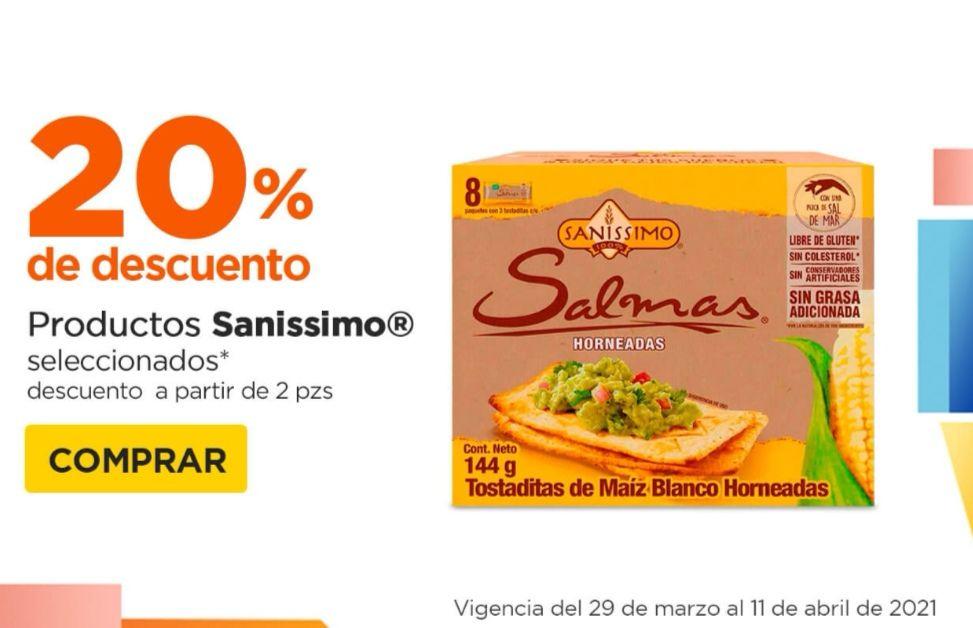 Chedraui: 20% de descuento en la compra de 2 ó más productos Sanissimo