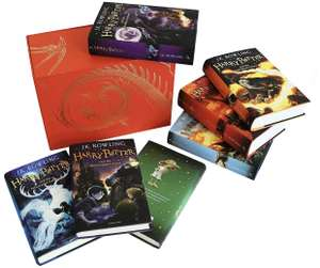 Amazon: Colección completa de Harry Potter pasta dura