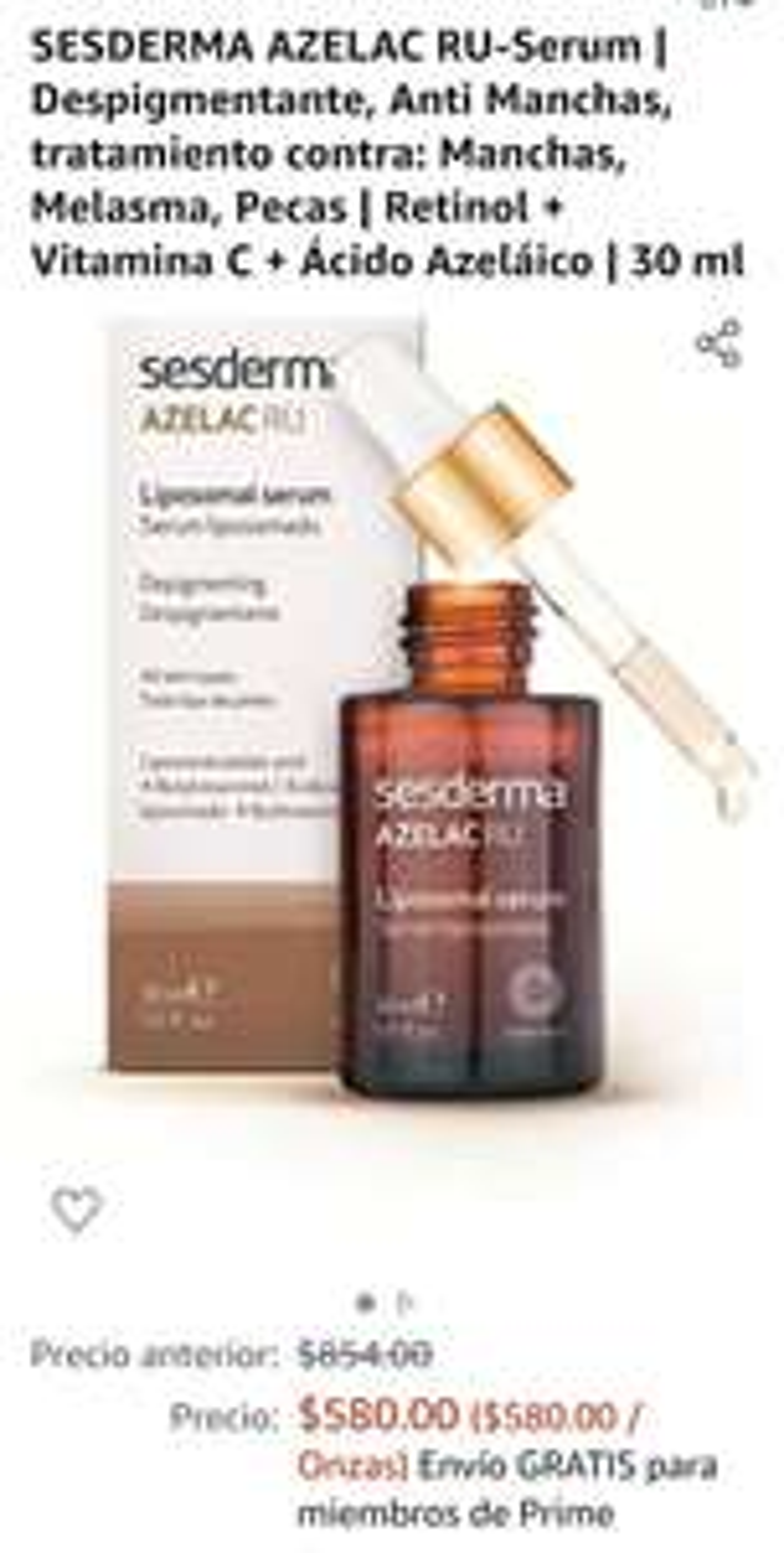 Amazon: SESDERMA AZELAC RU-Serum | Despigmentante