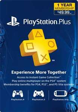 PCGAMESUPPLY: Membresia de 1 año para Playstation plus a $38.59 dólares (tarjeta de Canadá)
