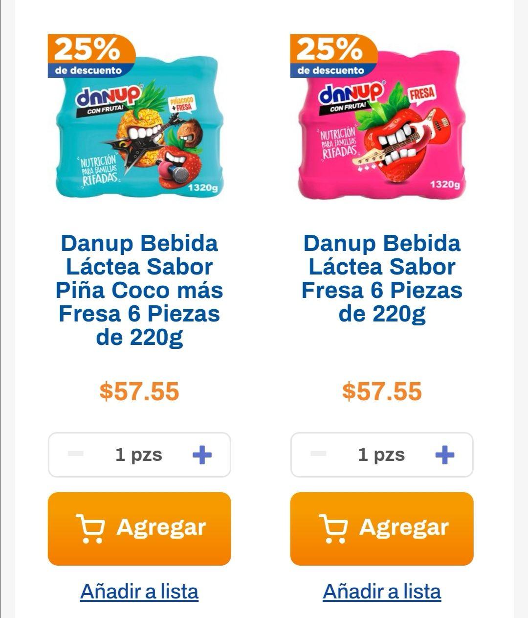 Chedraui: 25% de descuento por cada 2 Multipacks de yoghurt Danup seleccionados