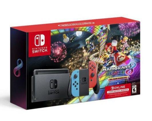 Elektra:Consola Nintendo Switch Mario Kart 8 Deluxe(Paypal) + cupón de $500