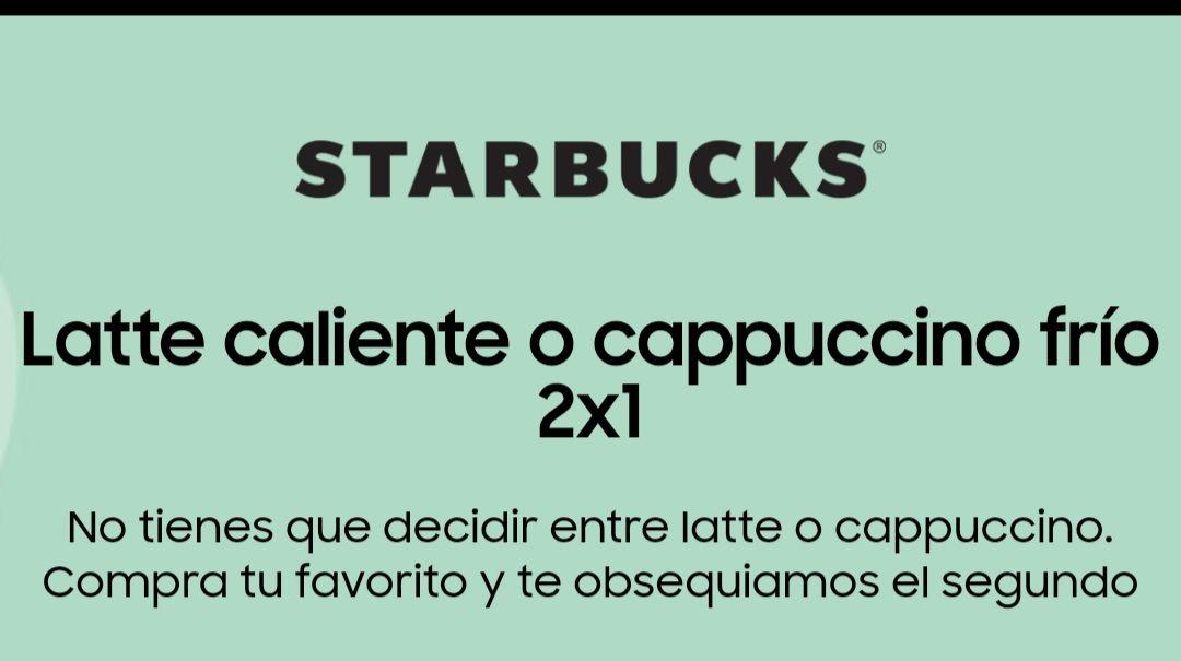 Starbucks: cupón 2x1 para miembros Samsung members