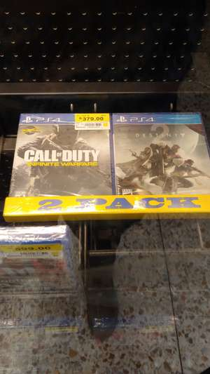 Bodega Aurrerá: Pack cod infinite warfare y destiny 2