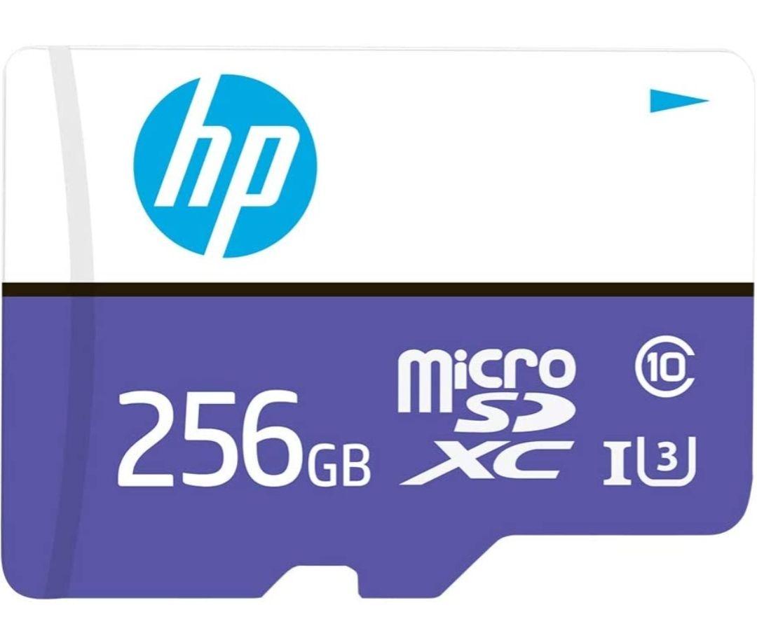 Amazon: microSD HP 256 GB, Clase 10, U3, Velocidad de Lectura de hasta 100 MB/s
