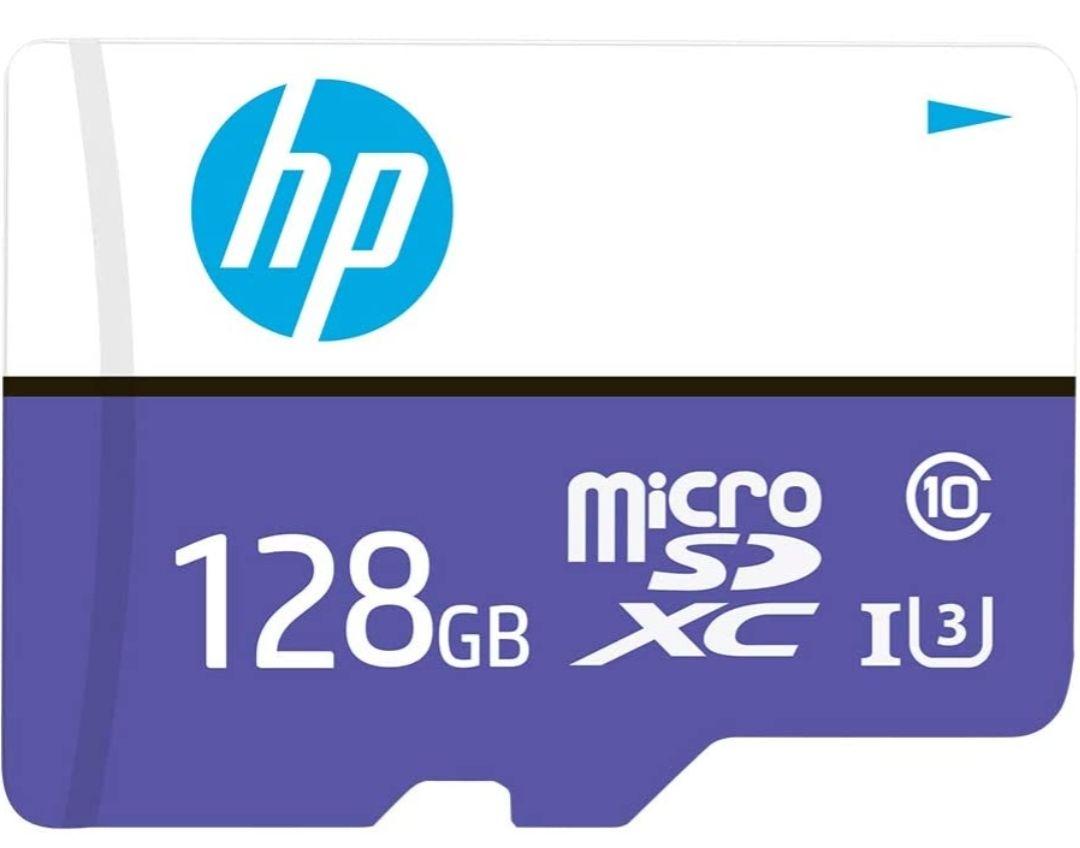 Amazon: microSD HP 128 GB, Clase 10, U3, Velocidad de Lectura de hasta 100 MB/s