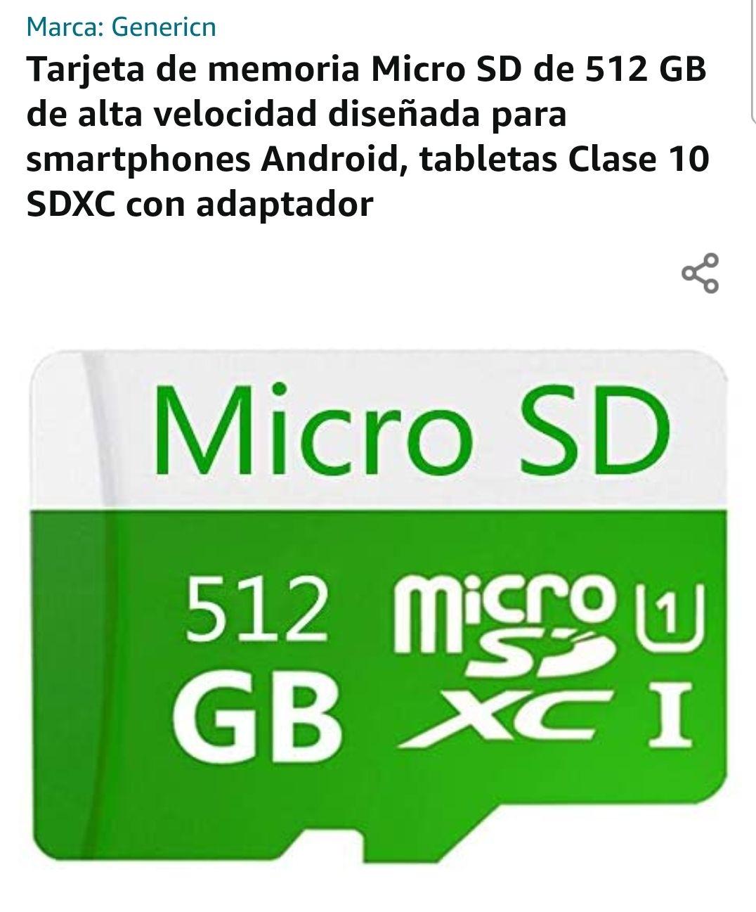 Amazon: Micro SD de 512