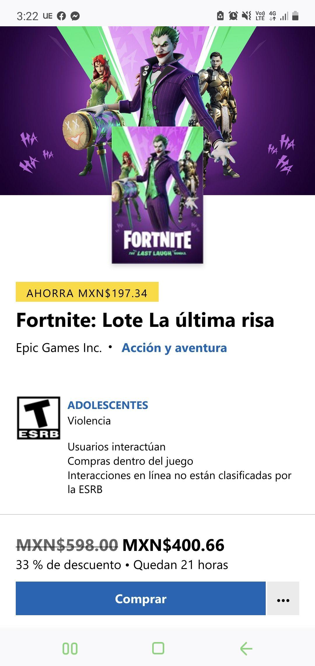 Xbox: Fortnite: Lote La última risa