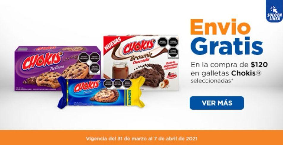 Chedraui: Envío gratis en super la compra de $120 en galletas Chokis seleccionadas
