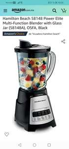 Amazon : Hamilton Beach 58148 Power Elite Multi-Function Blender with Glass Jar (58148A), OSFA, Black