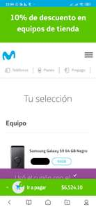 Movistar: Samsung galaxy s9 64 gb