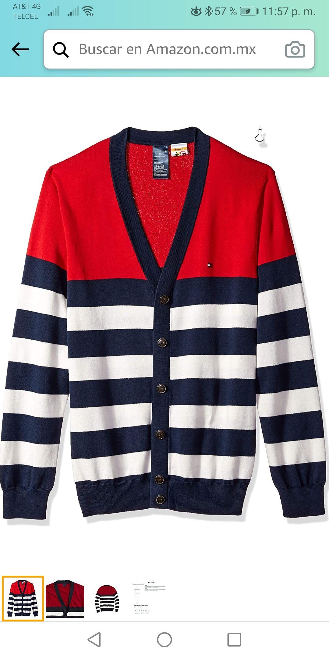 Amazon: suéter de cárdigan Tommy Hilfiger talla CH