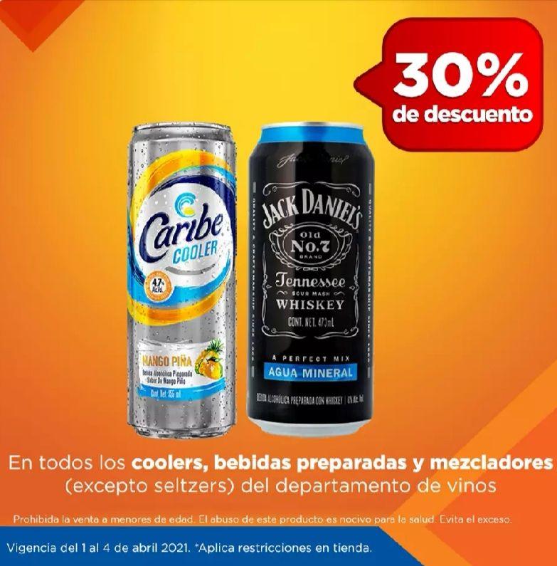 Chedraui: 30% de descuento en coolers, bebidas preparadas y mezcladores