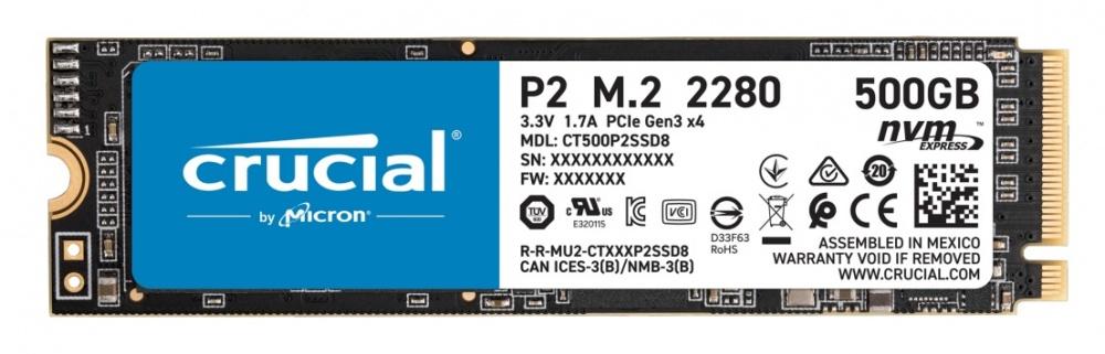 Cyberpuerta: SSD Crucial P2,500GB,PCI Express 3.0, M.2,NVMe