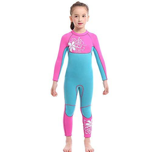 Amazon: Traje de baño neopreno para niñas térmico, Buceo Snorkel de una Pieza Natación, Manga Larga, Buceo Talla L aprox 4 años