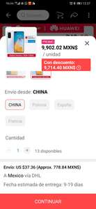 AliExpress: P40 versión global