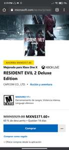 Xbox RESIDENT EVIL 2 Deluxe Edition
