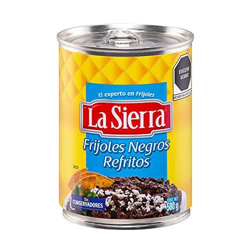 Amazon, La Sierra Frijoles Negros Refritos, 580 g, envió gratis prime.