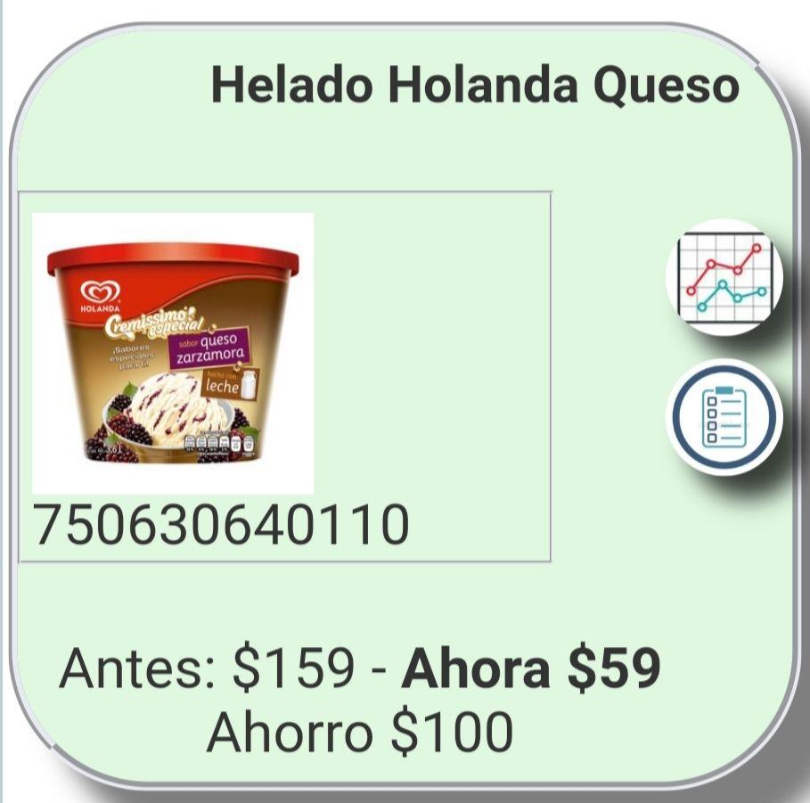 Chedraui: helado 3.6L queso zarzamora