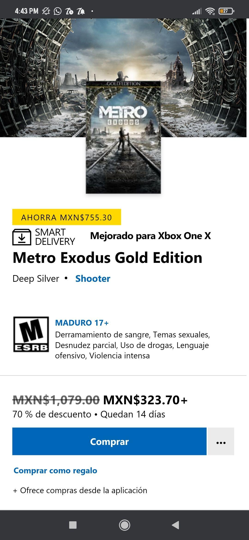 Microsoft Store: Metro Exodus (Gold Edition)