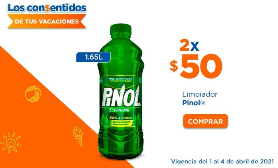Chedraui: Limpiador multiusos Pinol 1.65 L 2 x $50