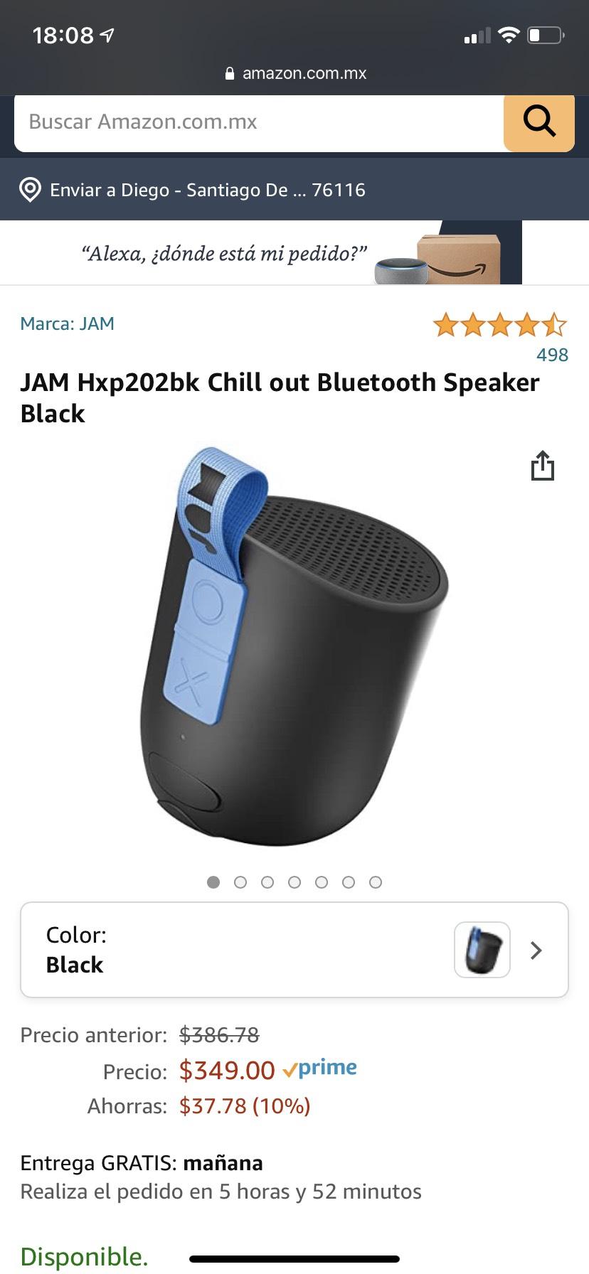 Bocina JAM Hxp202bk Chill out | Amazon