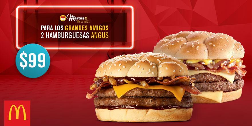 Martes de McDonald's: 2 Hamburguesas Angus por $99 y Desayuno Deluxe por $49