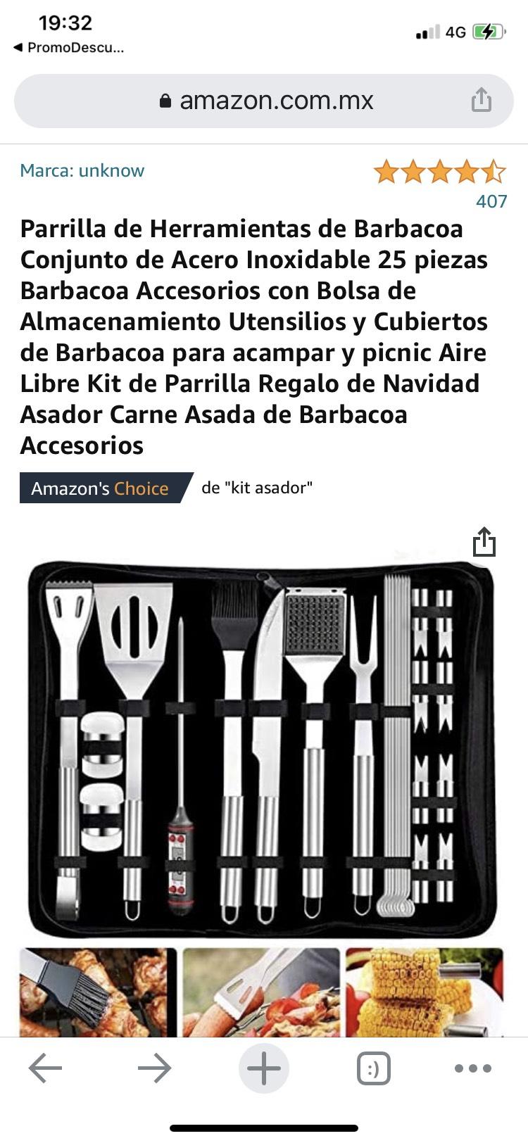 KIT PARRILLERO Pa la Carnita Asada/ AMAZON