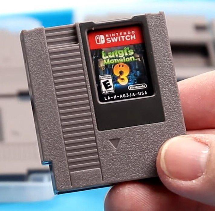 Amazon: Porta-juegos de Nintendo Switch en forma de cartucho de NES (Paquete con 8 piezas)