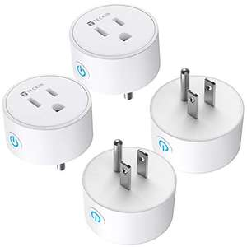 Amazon, Paquete de 4 Teckin Smart Plug WiFi Outlet funciona con Alexa Google Home y SmartThings