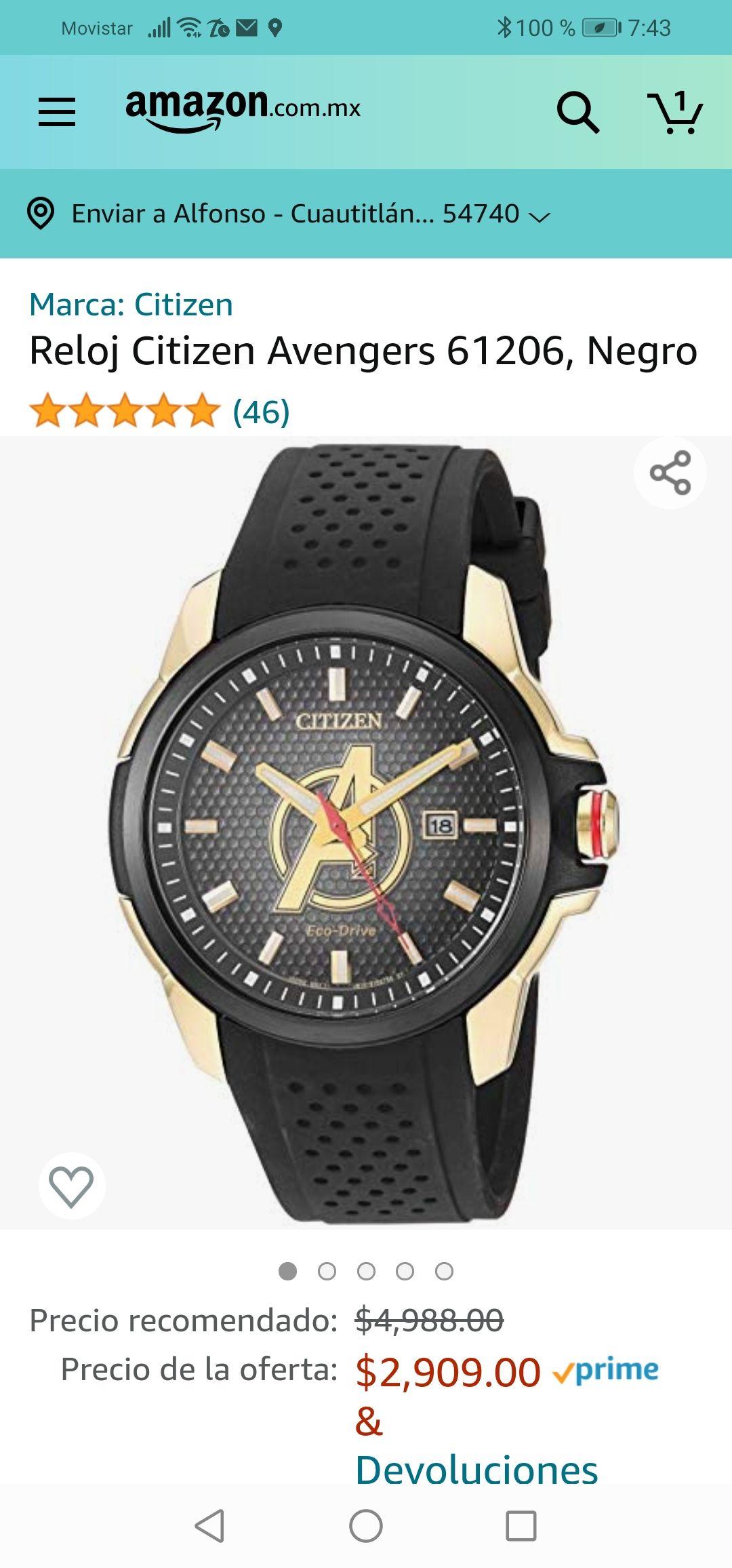 Amazon : Reloj Citizen Avengers 61206, Negro
