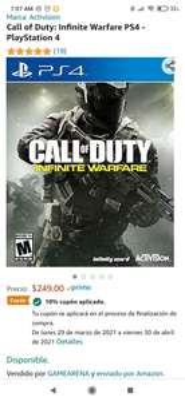 Amazon, Call of Duty: Infinite Warfare PS4 - PlayStation 4
