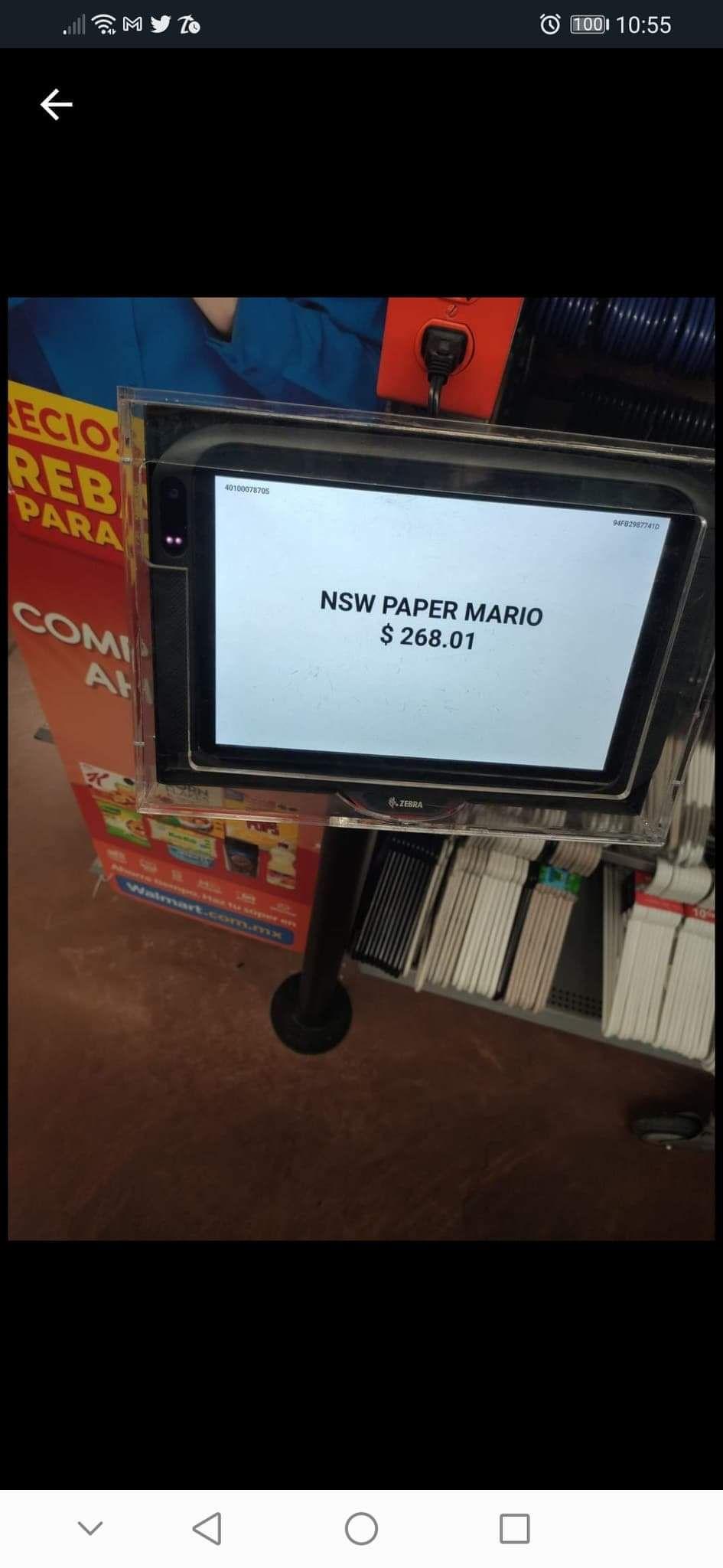 Walmart, Paper mario Nintendo switch