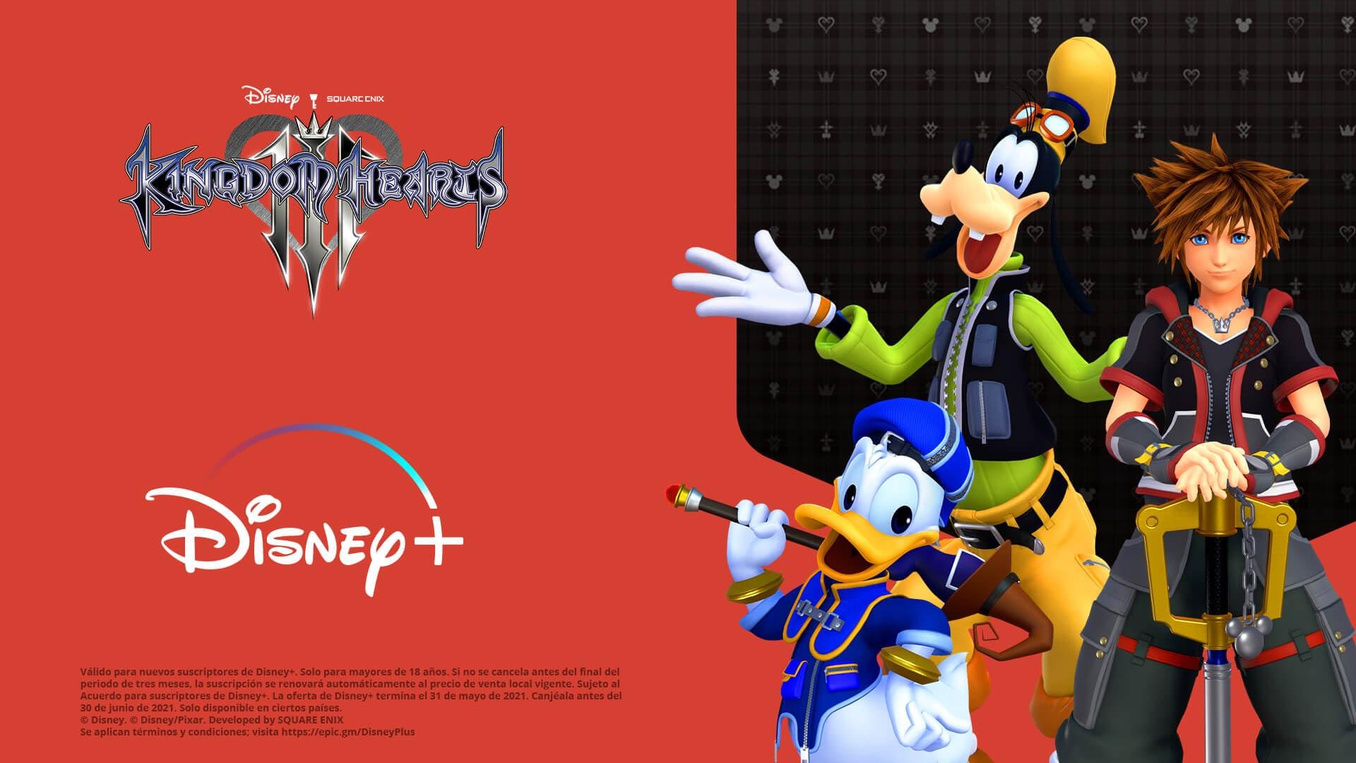 Epic Games [PC]: Compra Kingdom Hearts 3+Re Mind para PC y obtén de regalo 3 meses de Disney+ (nuevos subscriptores)