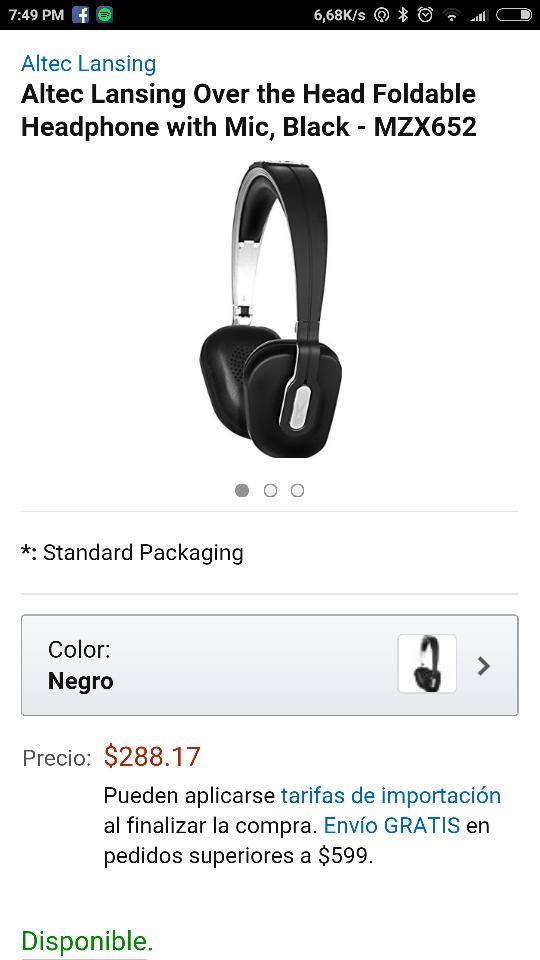 Amazon: Audifonos Altec Leasing de $1,797 a $288